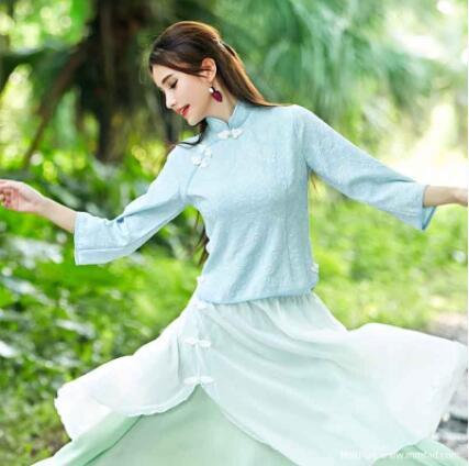 莎莎de嫁衣 企业金牌金冠店铺棉麻文艺设计师品牌原创厂家 民族风