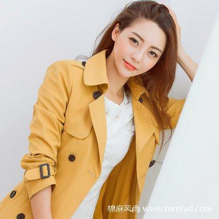 棉麻女装品牌秋装女士风衣精品推荐