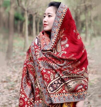 云南丽江女士棉麻防晒围巾旅游民族保暖披肩