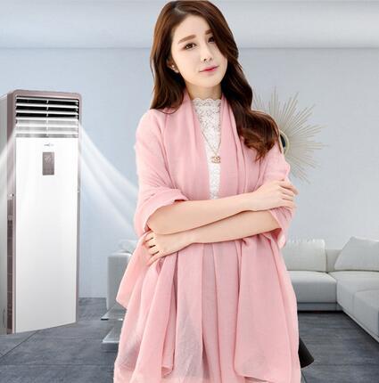 韩版围巾女防晒办公室空调房披肩两用棉麻围巾秋冬季