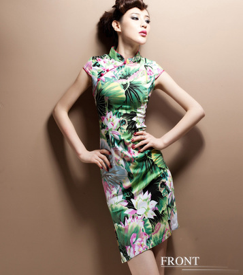 时尚改良中式复古棉麻旗袍连衣裙