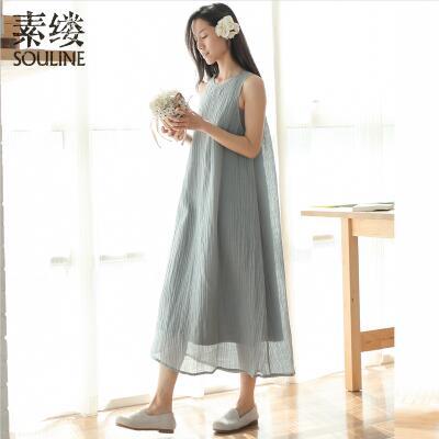 中长款宽松褶皱肌理裙
